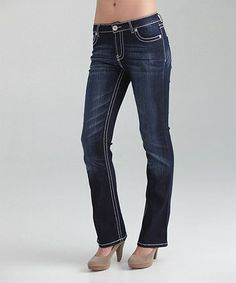 Another great find on #zulily! Blue Light Wash Sherly Bootcut Jeans - Women & Plus by Carreli Jeans #zulilyfinds