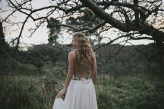 Bohemian Blue Mountains Wedding Inspiration » Willow & Co. http://willowandco » Model: Kate Johnson » Dress: Amanda Wakeley