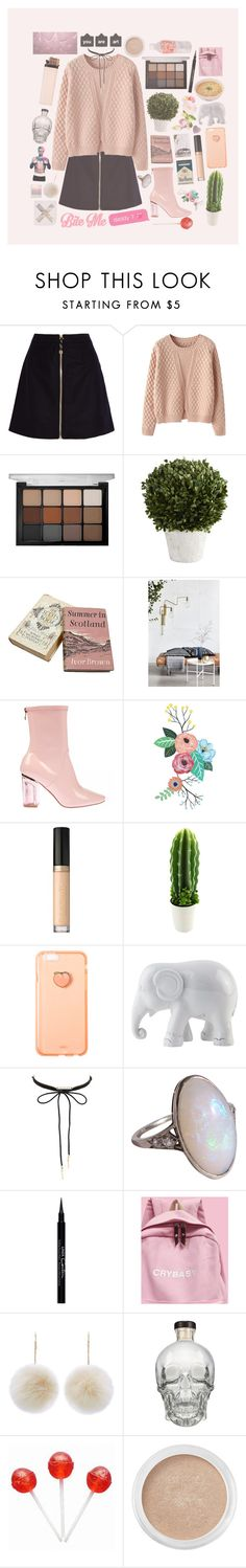 """""""Sem título #799"""" by mariana-almeida-4 ❤ liked on Polyvore featuring Acne Studios, Chicnova Fashion, Viseart, Pier 1 Imports, House Doctor, Too Faced Cosmetics, The Elephant Family, Charlotte Russe, Givenchy and New Look"""