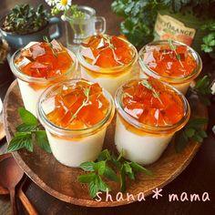 えっ‼‼刺さってるやん(汗)と、さっぱりふるん♪あっという間にミルクティープリンゼリー♪ | しゃなママオフィシャルブログ「しゃなママとだんご3兄弟の甘いもの日記」Powered by Ameba Dessert In A Jar, Dessert Cups, Sweets Recipes, Cooking Recipes, Food N, Food And Drink, Dessert Packaging, Summer Desserts, Japanese Sweets