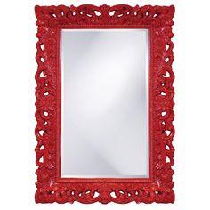 Lowest price online on Howard Elliott Barcelona Red Mirror - Wall Mirrors With Storage, Wall Mirrors Entryway, Big Wall Mirrors, Black Wall Mirror, Rustic Wall Mirrors, Round Wall Mirror, Mirror Bedroom, Vintage Mirrors, Sunburst Mirror