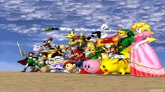 Nintendo will be revealing Super Smash Bros. Wii U gameplay for the first time during Super Smash Bros. has always been one of Nintendo's aces in the hole. On the Nintendo it gave . Super Smash Bros Melee, Super Smash Flash, Super Smash Bros Characters, Nintendo Characters, Super Mario, Mario Bros., Mario Smash, Pikachu, Pokemon