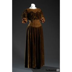 Dress Made Of Silk Velvet, By Liberty Of London - England    c.1910   -   The Museum Of FIT