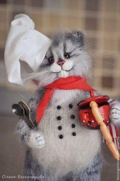 Купить Кому помощника на кухню? Кот ПОВАР - кот, котик, котенок, коты, коты и кошки