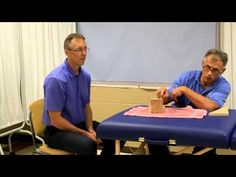 Famous Physical Therapists Bob Schrupp and Brad Heineck describe how one can make their own incline board to use to apply a stretch to the heel cords and the...