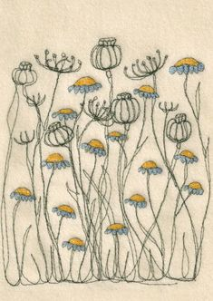 Embroidered Flowers: