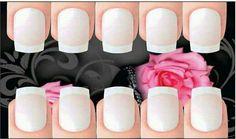 Cartão para adesivos de unhas Manicure Y Pedicure, Nail Art Designs, Nails, Card Templates, Pedicures, Adhesive, Nail Art, Finger Nails, Ongles