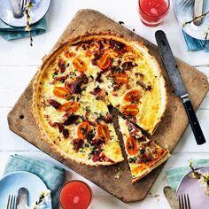 Quiche Lorraine (ost- och skinkpaj) är en gammal klassiker som är värd en comeback! Quiche Lorraine, Light Recipes, Vegetable Pizza, Recipies, Brunch, Food And Drink, Gluten, Diet, Meals