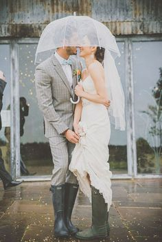 Rainy Wedding Photos Image by Michelle Lindsell – A Stylish Wedding At Cripps Stone Barn With A Pastel Colour Scheme And Bride In Fishtail Enzoani Gown With Coral Shoes From Clarks And Bridesmaids In Baby Blue Dresses With Groom In Checked Suit From Reiss Trendy Wedding, Perfect Wedding, Dream Wedding, Wedding In The Rain, Wedding Vintage, Wedding Story, Elegant Wedding, Wedding Photography Inspiration, Wedding Inspiration