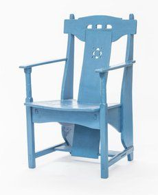 Piet Klaarhamer, Blauwe stoel (1906). Foto: Ivar Pel