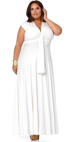"i wanna be comfortable on that beach! lol    ""Marilyn"" Long Convertible Dress – White – Monif C"