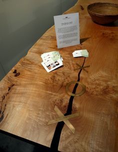 IDSwest-Nicholas Purcell wood table :: great butterfly details!
