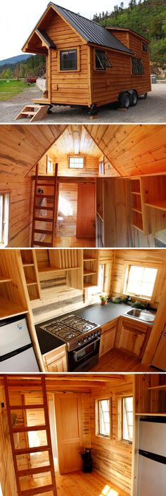 A cabin with just 200 sq ft of space!