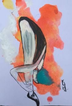 """Buy Dancer Ballet Art Acrylic on Watercolour Paper People Painting Gift Ideas Original Art 8""""x12"""", Acrylic painting by Kumi Rajagopal on Artfinder. Discover thousands of other original paintings, prints, sculptures and photography from independent artists."""