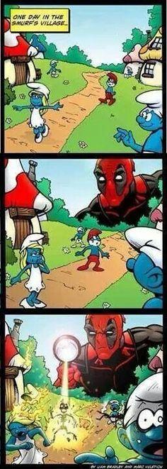 O maior terror dos smurfs