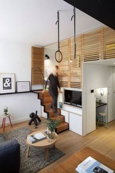 Zoku Hotel - If more small spaces modeled their design after the lofts in the Zoku Hotel, people wouldn't feel so sore about living in such shoeboxes. Tiny Spaces, Loft Spaces, Small Rooms, Bedroom Small, Small Space Living, Tiny Living, Living Spaces, Compact Living, Compact House