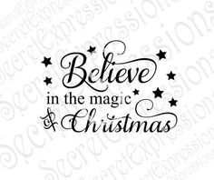 Believe in the magic of Christmas  Wood Sign Stencil Pattern SVG Jpeg DXF File Personal Cutter Pattern Cut Out Print File by SecretGardenDecatur on Etsy