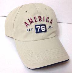 71143122575 AMERICA 76 1776 HAT Low Profile Crown Khaki Dad Cap Men Women USA United  States  MVSport  BaseballCap