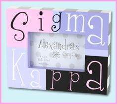 Sigma Kappa Sorority Photo Frame $14.99