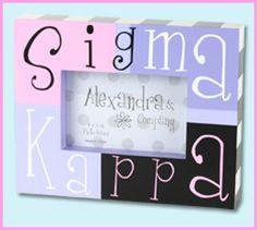 Sigma Kappa Sorority Photo Frame $14.99 #Greek #Sorority #Accessories #SigKap #SigmaKappa