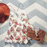 Buffalo Rose Romper in Cream: Alternate View #1