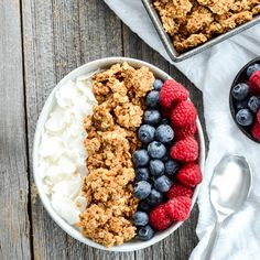 This Healthy Peanut Butter Granola is the perfect make-ahead breakfast recipe! Gluten-free, dairy-free, refined sugar free, oil free and vegan!
