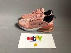 New Women  s Nike Air Max 270 Coral Stardust Pink Black AH6789-600  edc935926
