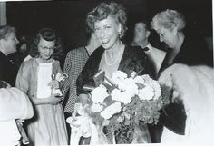 From an original negative, Jeanette MacDonald after a concert. - ESCANO COLLECTION
