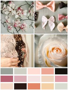 ENGLISH COUNTRYSIDE: This is a romantic, cool palette using various tones of pink which gives this palette a lot of depth – it's subtle, layered… sweet. Images: 1. Alicia Bock, 2. Sarah Wynne, 3. Derya Davenport, 4. Tetsu-FMR.