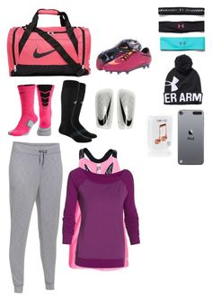 """What's in my Soccer Bag"" by isabelle108 ❤ liked on Polyvore featuring NIKE, adidas, Under Armour and Happy Plugs"