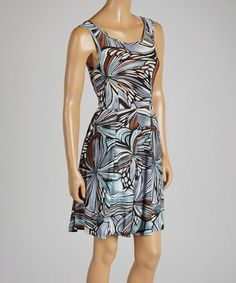 Another great find on #zulily! Navy & Black Abstract Sleeveless Dress by SoHo Chick #zulilyfinds