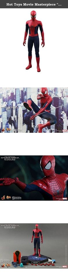 """Hot Toys Movie Masterpiece """"Amazing Spider-man 2"""" 1/6 Scale Figure Spider-man. Sideshow Collectibles and Hot Toys are excited to announce the new 1/6th scale Spider-Man collectible figure from the film The Amazing Spider-Man 2. Swinging into action, the movie-accurate Spider-Man collectible is specially crafted based on the image of Spider-Man in the film. Featuring a newly developed Spider-Man suit and highly detailed accessories."""