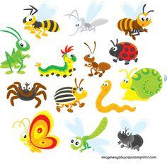 Imprimir insectos , imagenes con dibujos de insectos; arañas, mariquitas, caracoles, gusanos, hasta escorpiones para imprimir. Todos estos ...