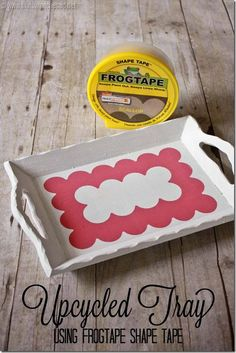 Upcycled Serving Tray using FrogTape® Shape Tape ™