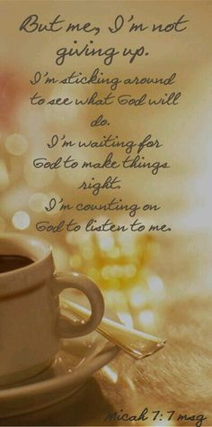 Counting on God always
