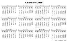 Resultado de imagen para calendarios 2018 bolivia