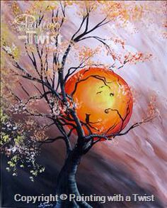 Harvest Moon 2   #PWAT  #PaintingWithATwist  Painting With A Twist