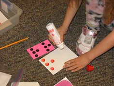 Ideas for Math Stations--students match dot cards to numbers, then can make their own with dot markers to take home