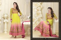 Kareena Kapoor Yellow and Pink Anarkali Suit Design No :- 18331 Product :- Unstitched Salwar Kameez Size :- Max 40 Fabric :- Georgette Work :- Heavy Embroidery Work Stitching Charges :- र 400 Price :- र 4851  For Sales Queries :- sales@manjaree.in OR call on 0261-3131669  For More Information :- http://manjaree.in/  Follow Our Blog :- http://manjareefashion.blogspot.in/