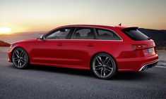 The Audi RS6 has all-wheel drive and a twin-turbo V8 that cranks out 552 hp.  OUTRAGEOUS!
