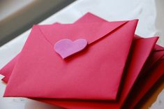 These handmade Valentine Cards are made from a giant cut-out heart that's then folded into an envelope. Draw your message on the heart, fold it up, seal it, and your Valentine is ready to go! So easy. Handmade Valentine Cards: The Amazing All-in-one Envelope