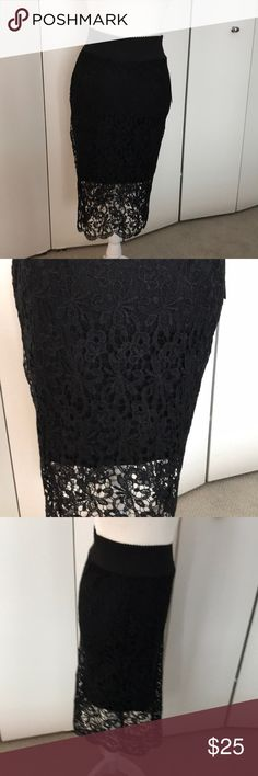 """New with tags Lily White lace skirt New condition. Measurement from to to bottom 26"""" Lily White Skirts"""