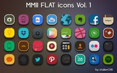 New Flat Icons: http://www.iconspedia.com/pack/mmii-vol-1-icons-4261/ Perfect for customize your mobile interface with our app: https://play.google.com/store/apps/details?id=com.mob.iconspedia