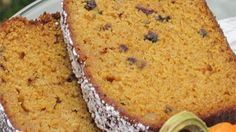 Pumpkin Tea Bread with pitted dates. Tasty and good for you. Share it with a friend over a cup of tea. Sweet!