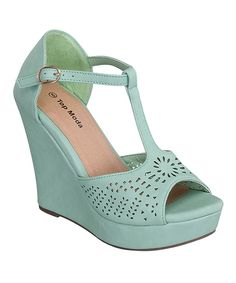80b1bf6fb215 Love this Teal Ella Wedge by TOP MODA on  zulily!  zulilyfinds Wedges On