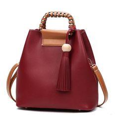 bf31d97c88 Stylish PU Leather Handbag Bucket Bag Shoulder Bags Crossbody Bags For Women