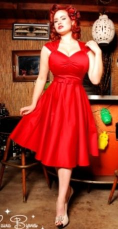 Red dress from pin up couture