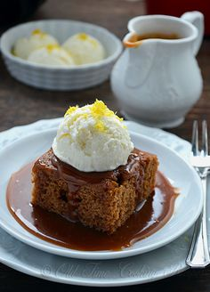 Gingerbread Cake with Caramel Sauce - Old Fashioned Recipes