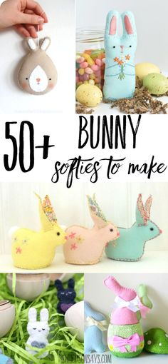 50 Stuffed Bunny Sewing Patterns See A Huge List Of Bunny Softies To Make So Many Sewing Patterns For Stuffed Bunny Stuffies With A Ton Of Freebies And All Different Styles Great Easter Sewing Project Ideas Easter Projects, Sewing Projects For Beginners, Easter Crafts, Crafts For Kids, Diy Crafts, Easter Dyi, Happy Easter, Sewing Art, Sewing Patterns