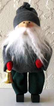 Swedish Christmas Tomtar, Tomte with Bell